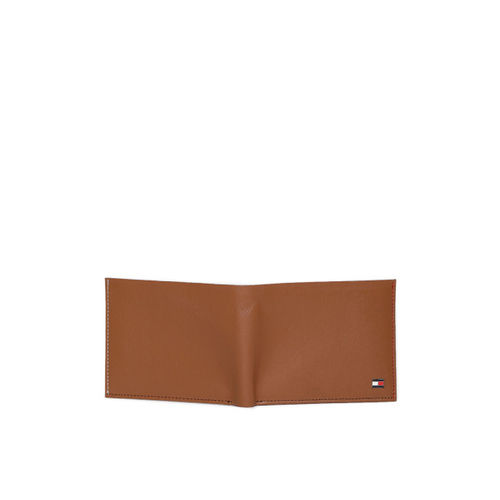 Tommy Hilfiger Men Tan Brown Solid Two Fold Leather Wallet