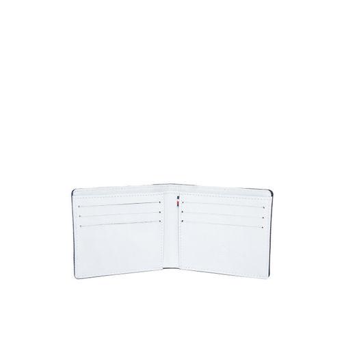 United Colors of Benetton Men Navy Blue Colourblocked Denim Two Fold Wallet