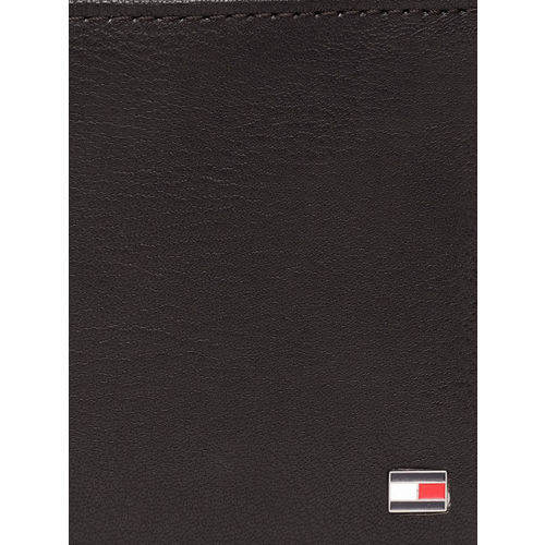 Tommy Hilfiger Men Brown Solid Two Fold Leather Wallet