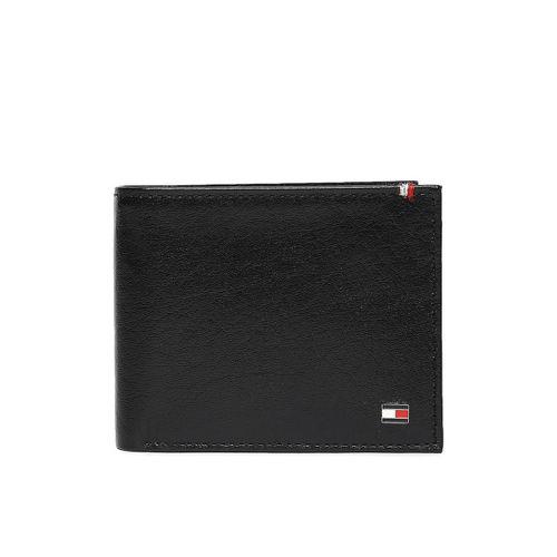 Tommy Hilfiger Men Black Leather Two Fold Wallet