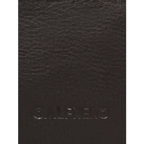 CALFNERO Unisex Brown Solid Genuine Leather Card Holder