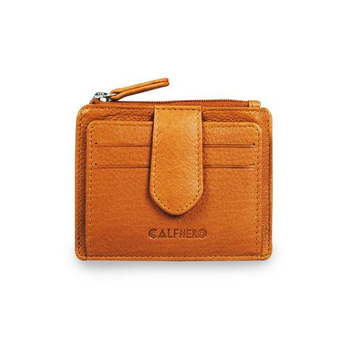 CALFNERO Unisex Tan Solid Card Holder