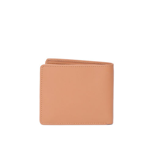 United Colors of Benetton Men Tan Brown Leather Two Fold Wallet