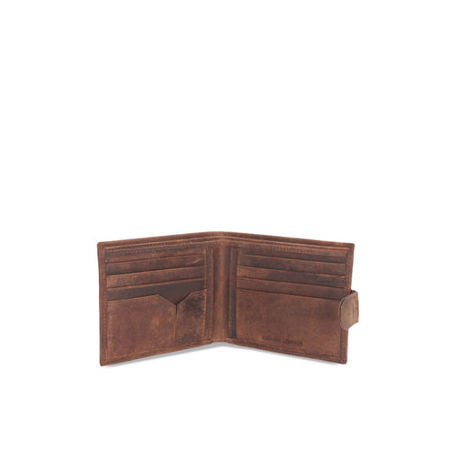 STYLER KING Men Brown Solid Two Fold Wallet