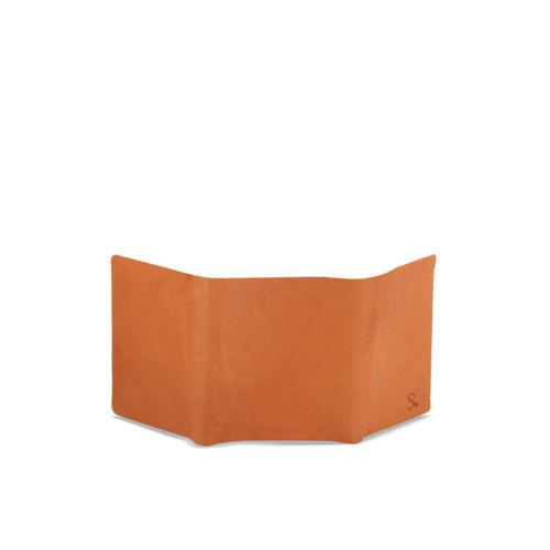 STYLER KING Men Tan Solid Three Fold Wallet