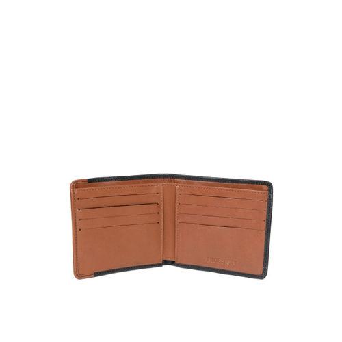 Hidesign Men Black & Brown Solid Two Fold Wallet