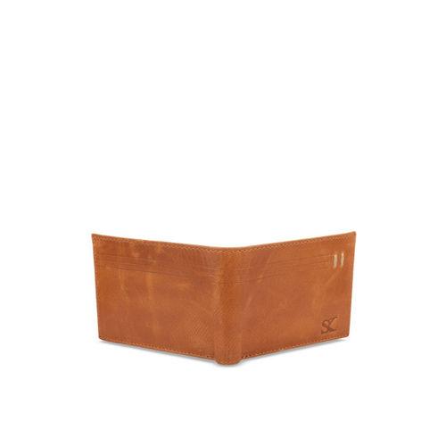 STYLER KING Men Tan Solid Two Fold Wallet