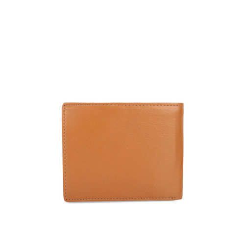 STYLER KING Men Tan Solid Two Fold Wallet