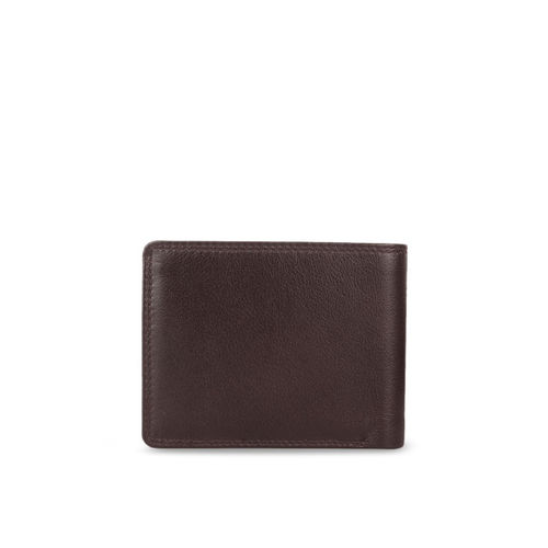 STYLER KING Men Brown Leather Solid Two Fold Wallet