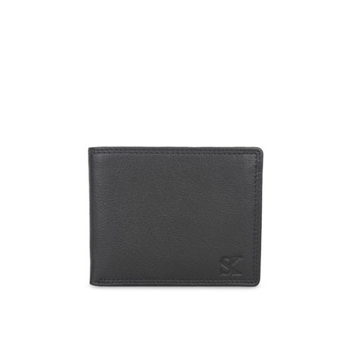 STYLER KING Men Black Leather Solid Two Fold Wallet