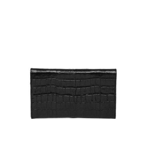 Raymond Men Black Self Design Two Fold Wallet