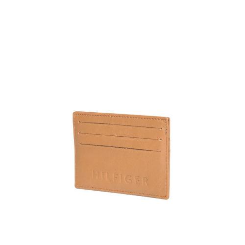Tommy Hilfiger Men Tan Brown Solid Card Holder