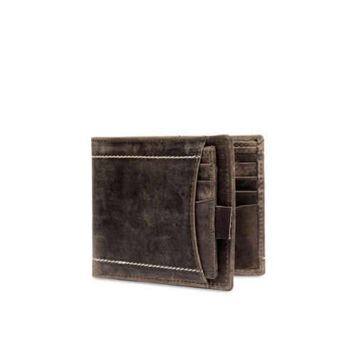 Teakwood Leathers Men Brown Solid Leather Two Fold Wallet