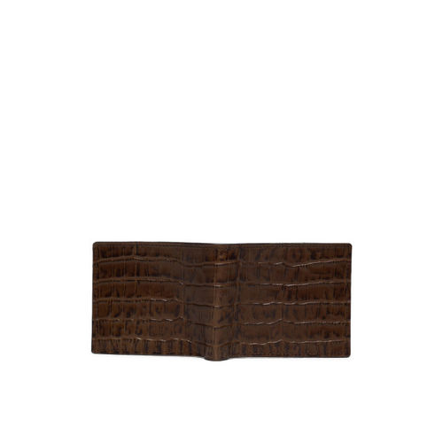Raymond Men Brown Textured Two Fold Wallet
