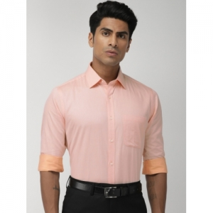 Raymond Peach-Coloured Cotton Slim Fit Formal Shirt