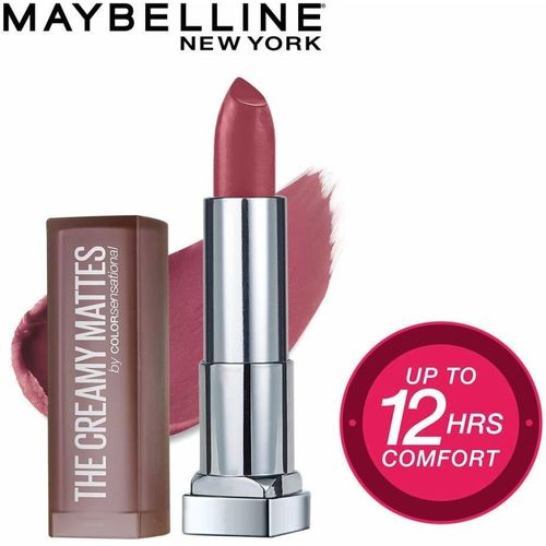 Maybelline New York Color Sensational Creamy Matte Lipstick, 660 Touch of Spice, 3.9g(Brown, 3.9 g)