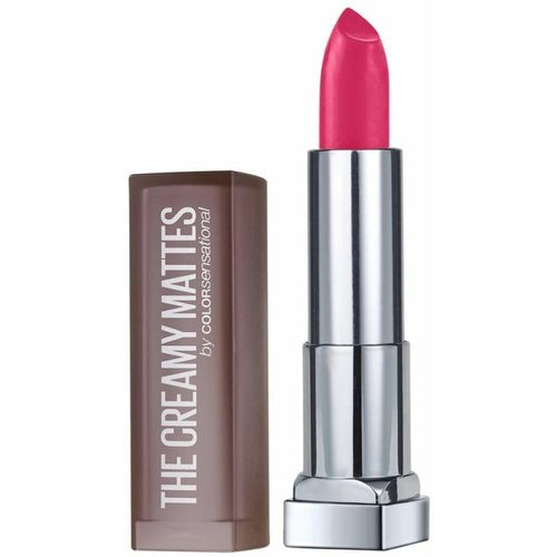 Maybelline New York Color Sensational Creamy Matte Lipstick, 630 Flaming Fuchsia, 3.9g(Pink, 3.9 g)