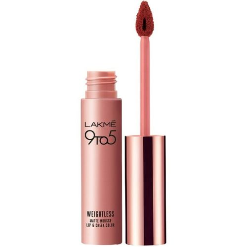 Lakme 9 to 5 Weightless Mousse Lip & Cheek Color(Brick Bloom, 9 g)