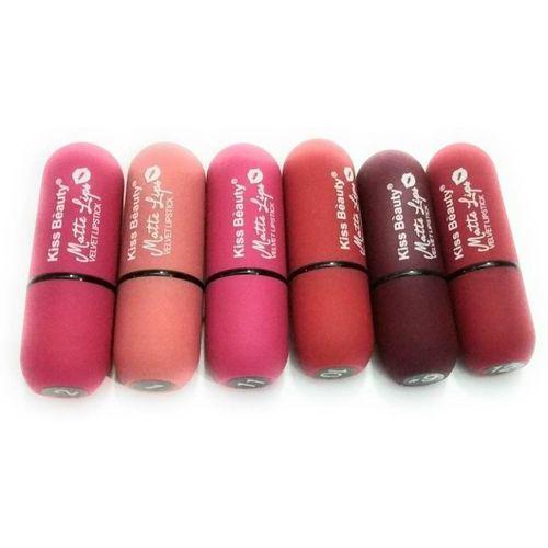 kiss beauty matte lips Velvet Lipsticks (Multicolor)(Multicolor, 150 g)