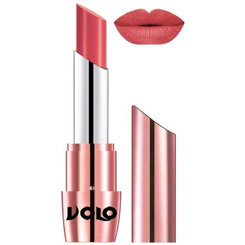 Volo Perfect Creamy with Matte Lipsticks, No more dry lips(Dark Peach,, 3.5 g)