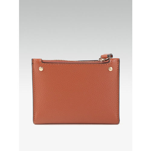 DOROTHY PERKINS Women Brown Solid Two Fold Wallet