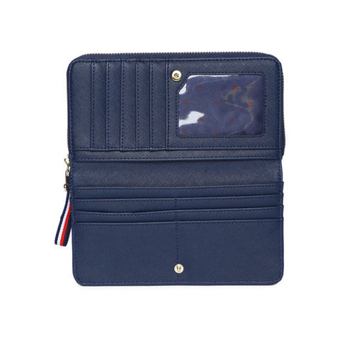 Tommy Hilfiger Women Green Solid Zip Around Wallet