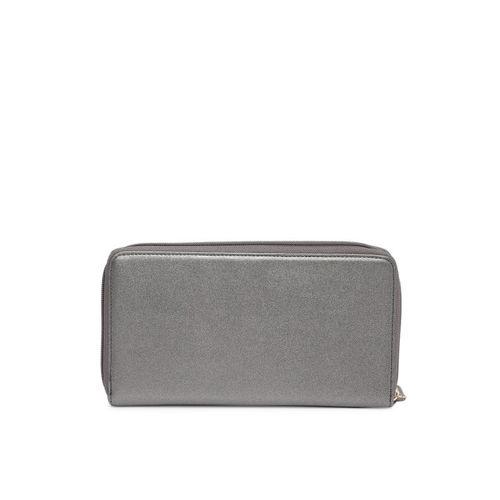Lavie Women Gunmetal-Toned Textured Zip Around Wallet