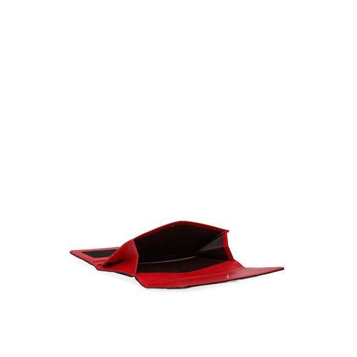 Lavie Women Red Solid Three Fold Wallet
