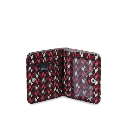 Kipling Women Pink & Red Printed Two-Fold Wallet