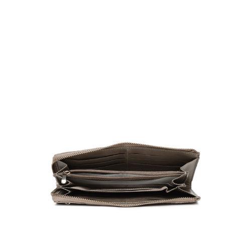 Baggit Women Beige Textured Zip Around Wallet