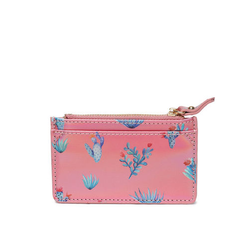 Accessorize Women Pink Printed Card Holder
