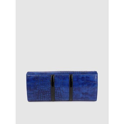 Allen Solly Blue Textured Clutch
