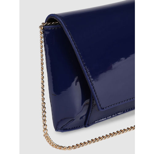 Allen Solly Women Navy Blue Solid Purse Clutch