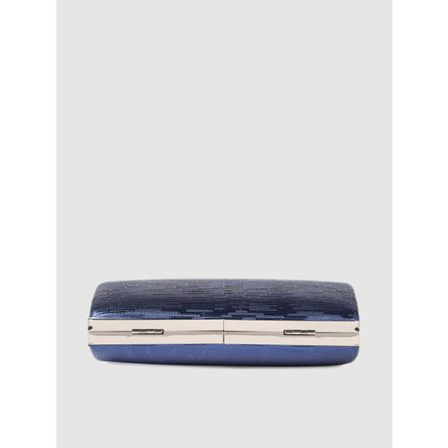 E2O Blue Textured Clutch