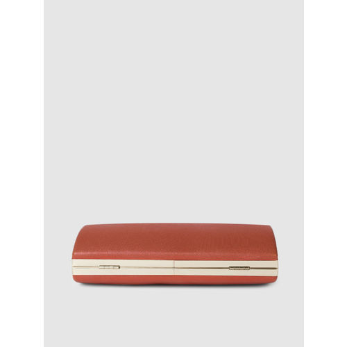E2O Red Textured Clutch