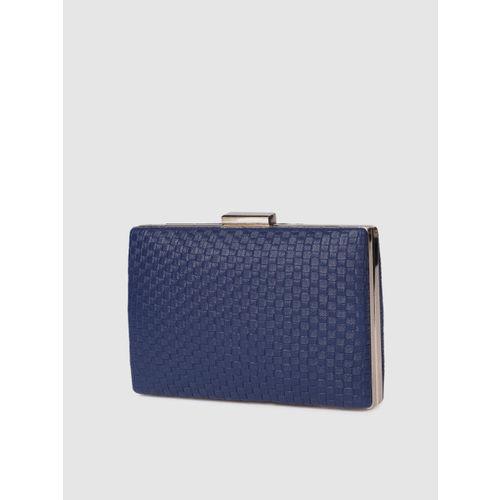 E2O Navy Blue Textured Clutch
