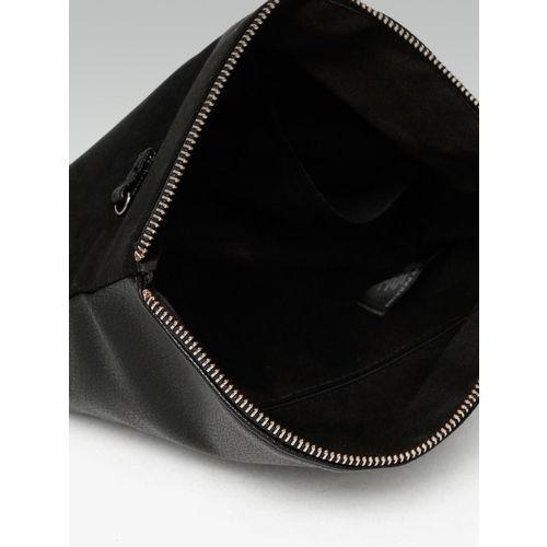 DOROTHY PERKINS Black Solid Foldover Clutch