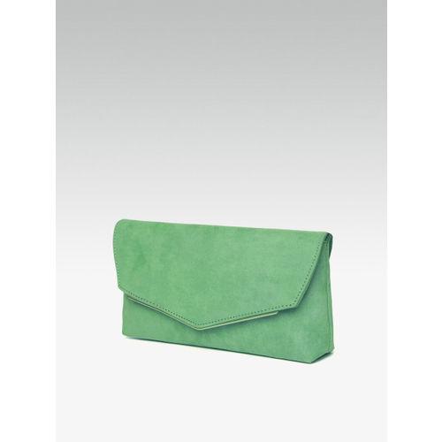 DOROTHY PERKINS Green Solid Envelope Clutch