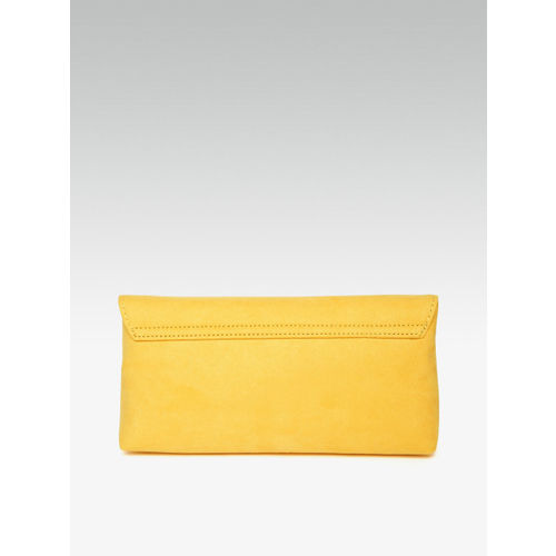 DOROTHY PERKINS Yellow Solid Envelope Clutch