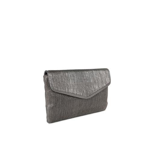 Inc 5 Metallic-Toned Textured Clutch