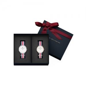 Daniel Wellington Unisex White & Red Classic Canterbury Watch Gift Set DW00500099