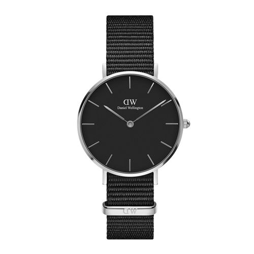 Daniel Wellington Black Classic Petite Cornwall Silver Analogue Watch DW00100216