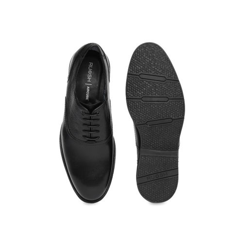Ruosh Men Black Leather Formal Oxfords