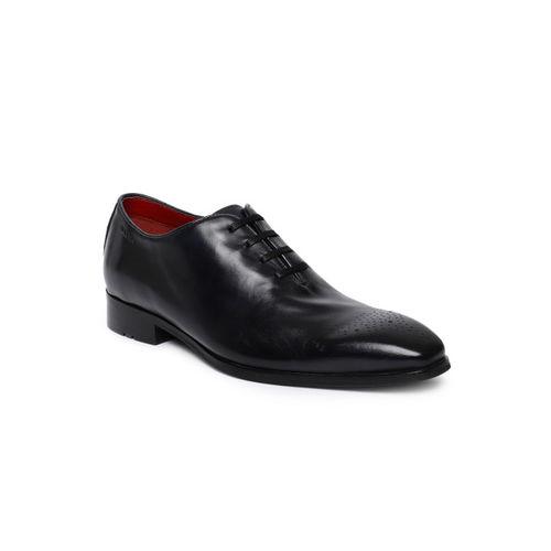 Ruosh Men Black Formal Leather Oxfords