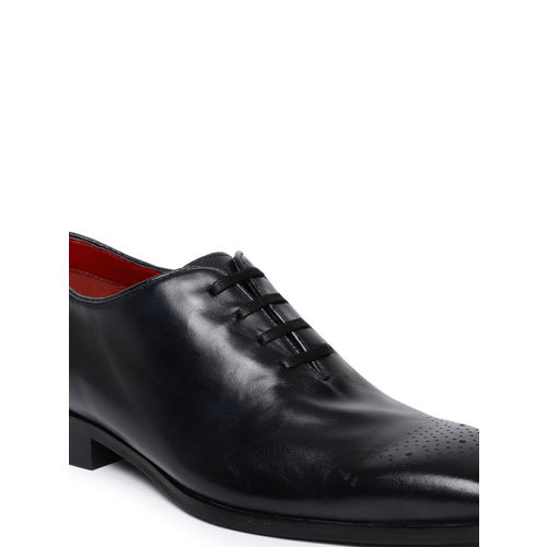 Ruosh Men Black Formal Leather Oxfords