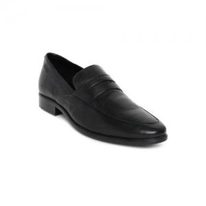 Ruosh Men Black NASHFORD 9A Leather Formal Slip-ons