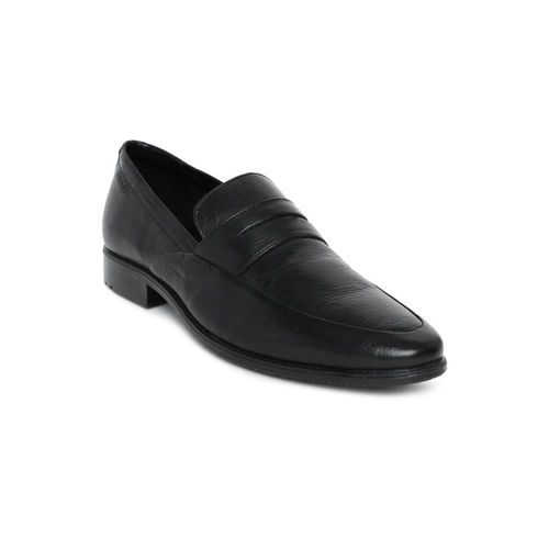 Ruosh Men Black NASHFORD 9A Leather Formal Slip-ons