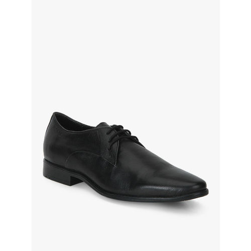 Ruosh Black Derby Formal Shoes