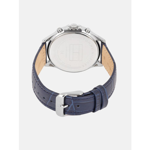 Tommy Hilfiger Blue Leather Analogue Watch