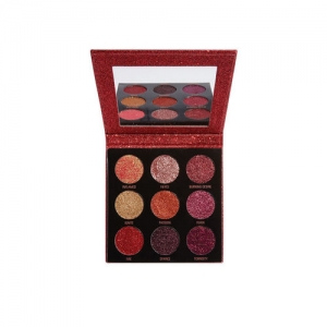 Makeup Revolution London Hot Pursuit Pressed Glitter Eyeshadow Palette 10.8 g